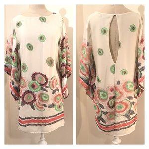 Ark & Co floral shift dress size M